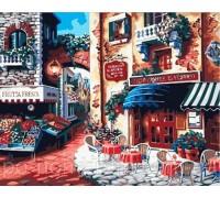 Картина по номерам Идейка  КН078 Кафе на углу улицы 40 х 50 см