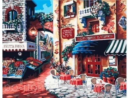 Купить Картина по номерам Menglei КН078 Кафе на углу улицы 40 х 50 см