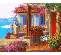 Картина по номерам Идейка КН1088 Дом моих мечтаний 40 х 50 см