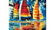 Набережная у моря, корабли, океан в картинах по номерам