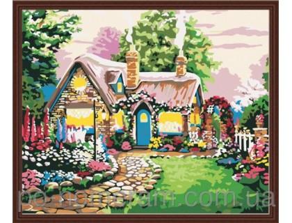 Купить Рисование по номерам Идейка Сказочный домик (КН047) 40 х 50 см