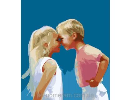 Купить Картина по номерам Menglei Детская дружба MG1026 40 х 50 см