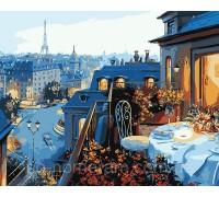 Картина по номерам Идейка Парижский балкон КН1107 40 х 50 см