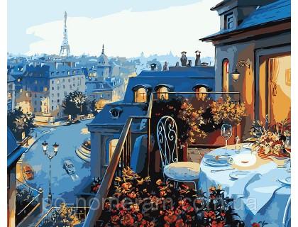 Купить Картина по номерам Идейка Парижский балкон КН1107 40 х 50 см