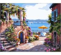 Картина по номерам Babylon Тихий дворик VP214 40 х 50 см