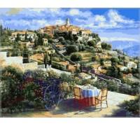 Картина по номерам Babylon Панорама Сен-Поль-де-Вансе, Франция VP248 40 х 50 см