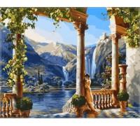 Картина по номерам Babylon Девушка у водопадаVP011 40 х 50 см