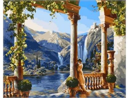 Купить Картина по номерам Babylon Девушка у водопадаVP011 40 х 50 см