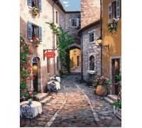 Картина по номерам Идейка Кафе в уютном дворике 40 х 50 см (арт. КН2192)