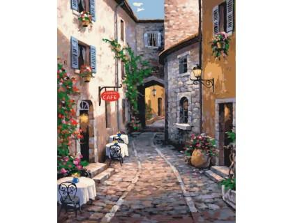 Купить Картина по номерам Идейка Кафе в уютном дворике 40 х 50 см (арт. КН2192)