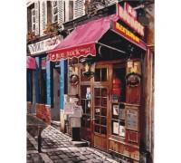 Картина по номерам без коробки Идейка Магазинчик во дворах 40 х 50 см (арт. KHO2195)