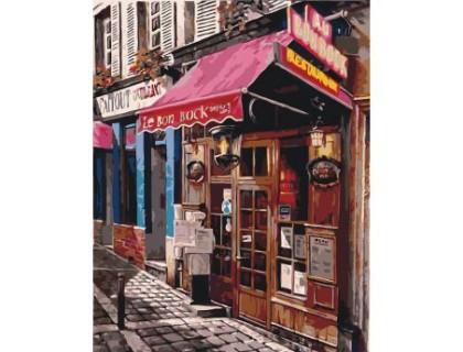 Купить Картина по номерам без коробки Идейка Магазинчик во дворах 40 х 50 см (арт. KHO2195)