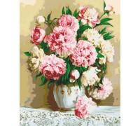 Картина по номерам Идейка Нежно-розовые пионы KH2032 40 х 50 см