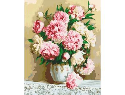 Купить Картина по номерам Идейка Нежно-розовые пионы KH2032 40 х 50 см
