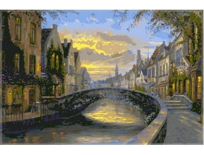 Купить Картина по номерам Babylon Отражение города VP047 40 х 50 см