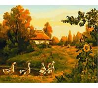 Картина по номерам Babylon VP495 Закат солнца в селе 40 х 50 см