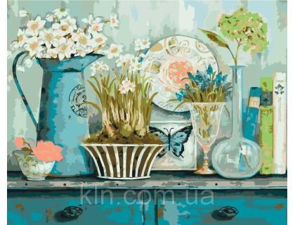 Купить Набор для раскраски картин по номерам Идейка Прованский натюрморт худ Уайт Кэтрин (KH2932) 40 х 50 см
