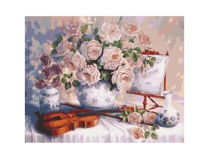 Купить Картина по номерам без коробки Идейка Нежное настроение 40 х 50 см (арт. KHO5518)