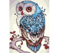 Картина по номерам без коробки Идейка Сказочная сова 30 х 40 см (арт. KHO2458)