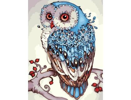 Купить Картина по номерам без коробки Идейка Сказочная сова 30 х 40 см (арт. KHO2458)