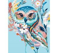 Картина-раскраска Идейка Очаровательная сова (арт. KH2471) 40 х 50 см
