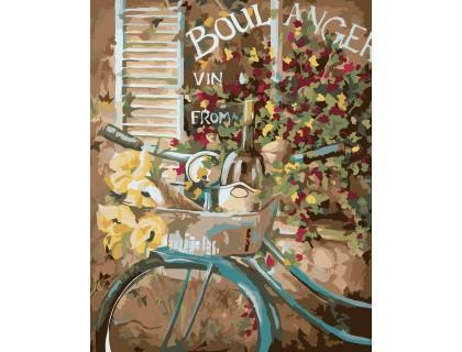 Купить Картина по номерам Идейка Французский велосипед 40 х 50 см (арт. KH2045)