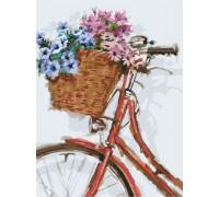 Картина по номерам на холсте без коробки Идейка Цветочная прогулка (KHO2022) 30 х 40 см