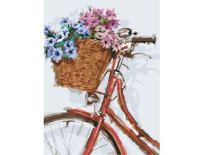 Купить Картина по номерам на холсте без коробки Идейка Цветочная прогулка (KHO2022) 30 х 40 см