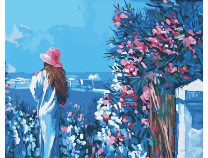 Купить Картина по цифрам Идейка Голубая даль (арт. KH2119) 40 х 50 см