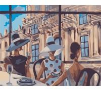 Картина по номерам без коробки Идейка Перерыв на кофе (KHO2122) 40 х 50 см