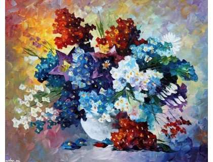 Купить Картина по цифрам Babylon Букет весенних цветов VP055 40 х 50 см