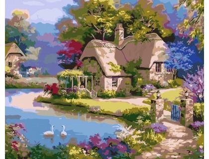 Купить Картина по номерам ArtStory Сказочный домик AS0029 40 х 50 см
