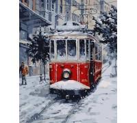 Картина по номерам ArtStory Зимний трамвай AS0042 40 х 50 см