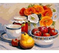 Картина по номерам ArtStory Яблочный натюрморт AS0119 40 х 50 см