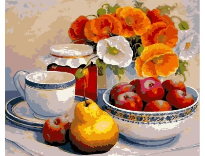 Купить Картина по номерам ArtStory Яблочный натюрморт AS0119 40 х 50 см