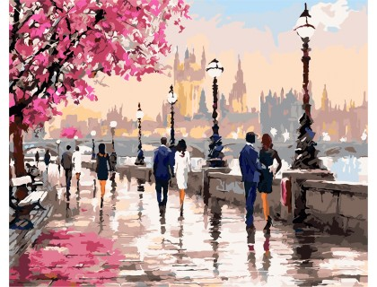 Купить Картина по номерам ArtStory  Осенняя набережная AS0135 40 х 50 см
