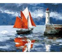 Картина по номерам ArtStory Алые паруса AS0152 40 х 50 см