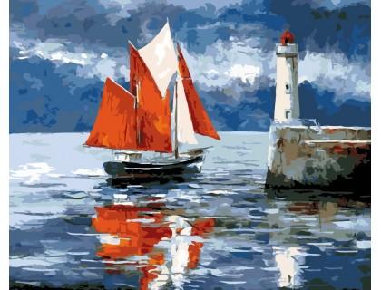 Купить Картина по номерам ArtStory Алые паруса AS0152 40 х 50 см