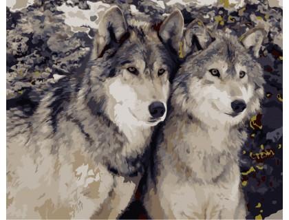 Купить Картина по номерам ArtStory Семейство волков AS0170 40 х 50 см