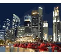 Картина по номерам ArtStory Ночной город AS0257 40 х 50 см