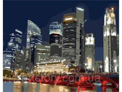 Купить Картина по номерам ArtStory Ночной город AS0257 40 х 50 см