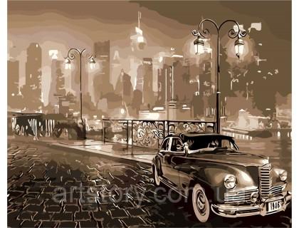 Купить Картина по номерам ArtStory Ретро автомобиль AS0258 40 х 50 см