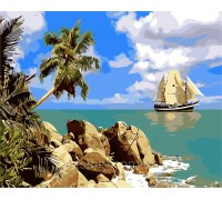 Картина по номерам ArtStory Прекрасный остров AS0262 40 х 50 см