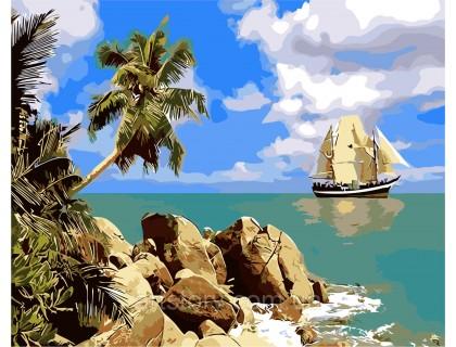 Купить Картина по номерам ArtStory Прекрасный остров AS0262 40 х 50 см