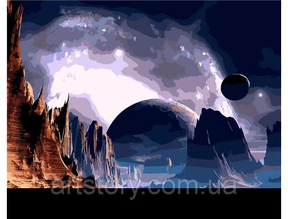 Купить Картина по номерам ArtStory Другая планета AS0264 40 х 50 см