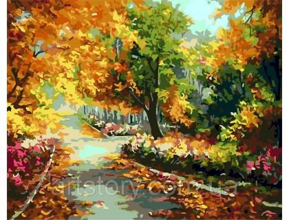 Купить Картина по номерам ArtStory Золотая осень AS0265 40 х 50 см