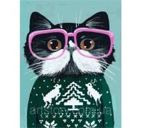 Картина по номерам ArtStory Праздничный котик AS0267 40 х 50 см