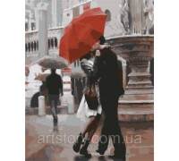 Картина по номерам ArtStory Поцелуй под дождём AS0286 40 х 50 см