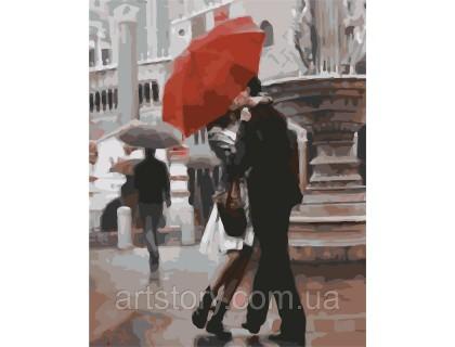 Купить Картина по номерам ArtStory Поцелуй под дождём AS0286 40 х 50 см