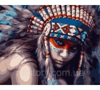 Картина по номерам ArtStory Принцесса воин AS0288 40 х 50 см